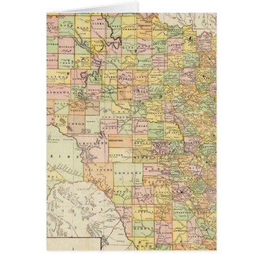 Condado del gran escala y mapa del ferrocarril de  tarjeta de felicitación