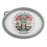 Condado del sello de Los Ángeles Hebillas Cinturon Ovales
