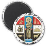 Condado del sello de Los Ángeles Iman De Frigorífico