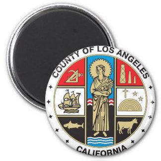Condado del sello de Los Ángeles Imán Redondo 5 Cm