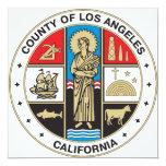 Condado del sello de Los Ángeles Comunicados Personalizados