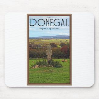 Condado Donegal - cruz de piedra Tapetes De Raton