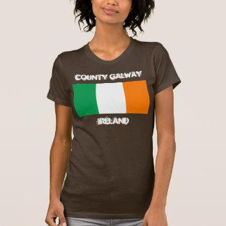 Condado Galway, Irlanda con la bandera irlandesa Camisetas