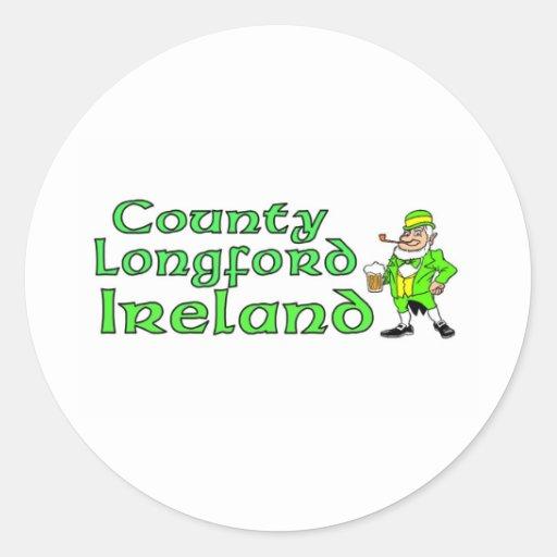 Condado Longford, Irlanda Etiquetas Redondas