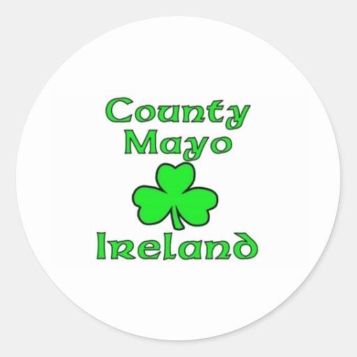 Condado Mayo, Irlanda Pegatina Redonda