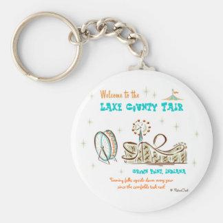 Condado retro Fair Llaveros Personalizados