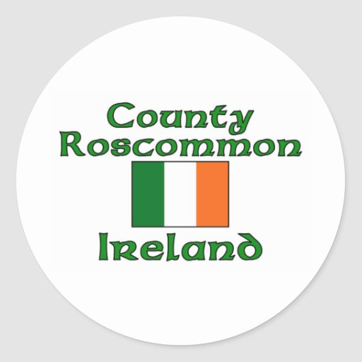 Condado Roscommon, Irlanda Pegatina Redonda