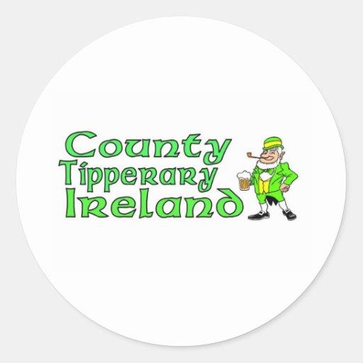 Condado Tipperary, Irlanda Pegatina Redonda