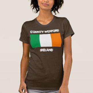 Condado Wexford, Irlanda con la bandera irlandesa Playera