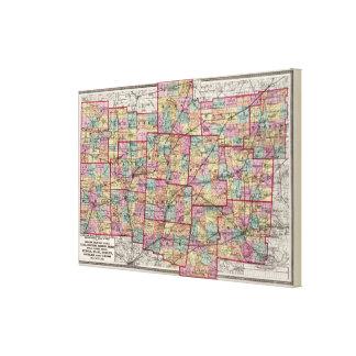 Condados 2 de Ohio Lona Estirada Galerías