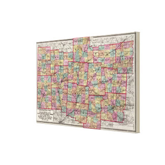 Condados 2 de Ohio Lienzo Envuelto Para Galerías