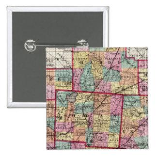 Condados 2 de Ohio Pin Cuadrado