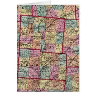 Condados 2 de Ohio Tarjeta De Felicitación