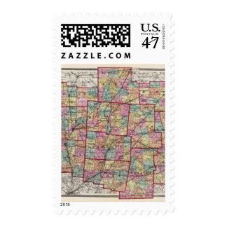 Condados 2 de Ohio Timbre Postal