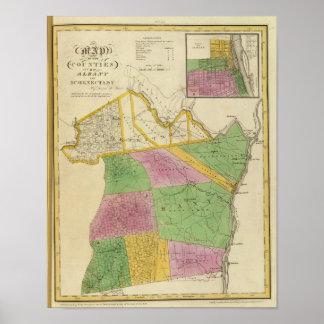 Condados de Albany, Schenectady Póster
