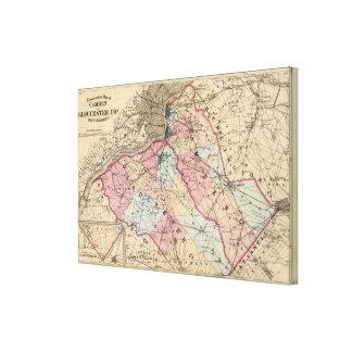 Condados de Camden, Gloucester, NJ Impresión En Lienzo