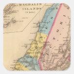 Condados de Inverness, Victoria, NS Pegatina Cuadrada