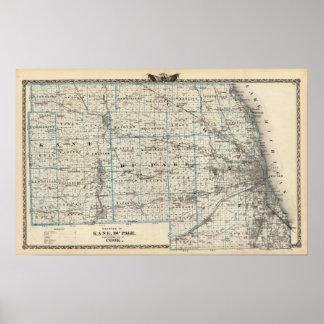 Condados de Kane, de Du Page, y de casi todo el co Póster