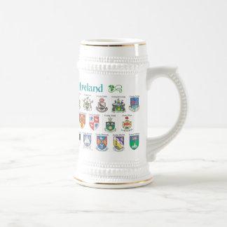 Condados de la cerveza Stein de Irlanda Jarra De Cerveza