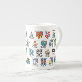 Condados de la taza de la porcelana de hueso de Ir Taza De Porcelana