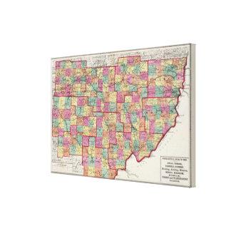 Condados de Ohio Lona Estirada Galerias
