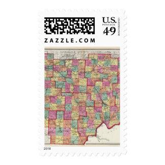 Condados de Ohio Timbre Postal