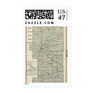 Condados de Platt, De Witt, Macon, Shelby Sellos Postales