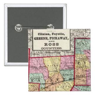 Condados de Ross Pin Cuadrada 5 Cm