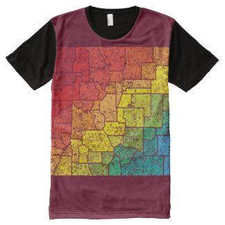 condados del color de Colorado Playera Con Estampado Integral