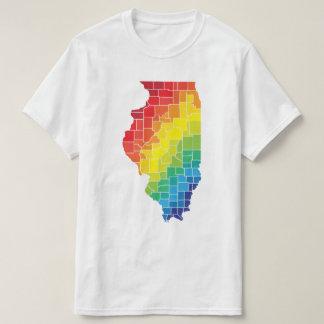 condados del color de Illinois Playera