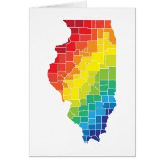 condados del color de Illinois Tarjeta De Felicitación