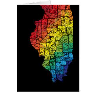 condados del color de Illinois Tarjeta Pequeña