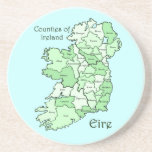 Condados del mapa de Irlanda Posavasos Personalizados