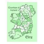 Condados del mapa de Irlanda Postal