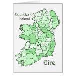 Condados del mapa de Irlanda Tarjetón