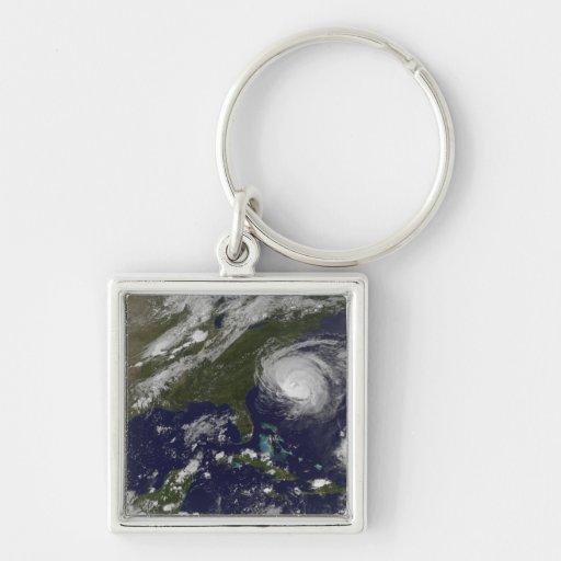 Conde 4 del huracán llavero cuadrado plateado