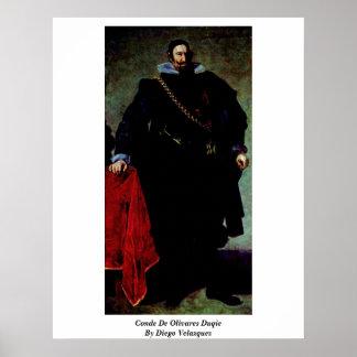 Conde De Olivares Duqie By Diego Velazquez Poster