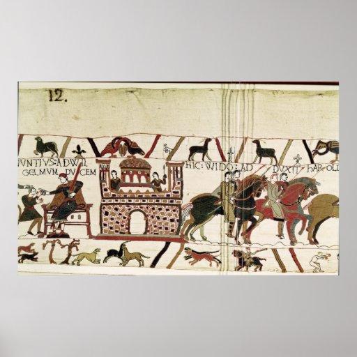 Conde Harold de la tapicería de Bayeux al duque de Posters