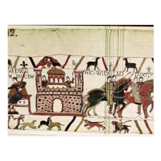 Conde Harold de la tapicería de Bayeux al duque de Postales