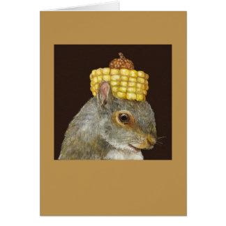Conde la tarjeta de la ardilla