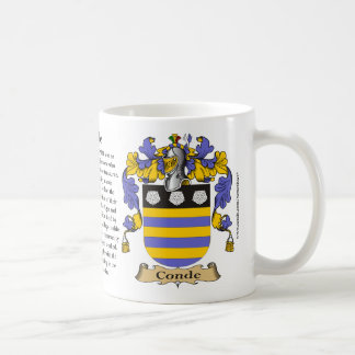 Conde, the Origin, the Meaning and the Crest Classic White Coffee Mug