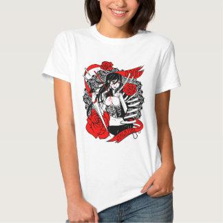 ¡CONDENACIÓN! Camiseta del escote redondo de los Playera