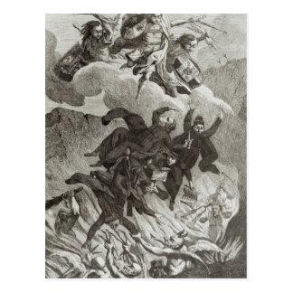 Condenación de las jesuitas, el 6 de agosto de 176 tarjeta postal