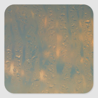 Condensación en la ventana pegatina cuadrada