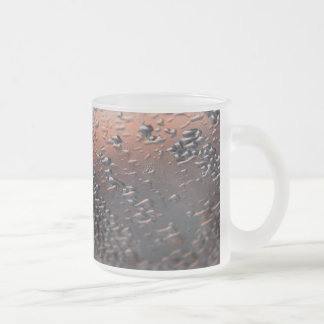 Condensed water drops 10 oz 10 oz frosted glass coffee mug