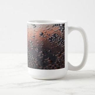 Condensed water drops 15 oz classic white coffee mug