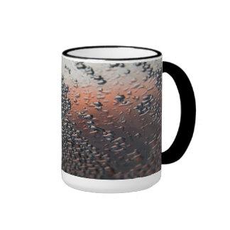 Condensed water drops 15 oz ringer coffee mug