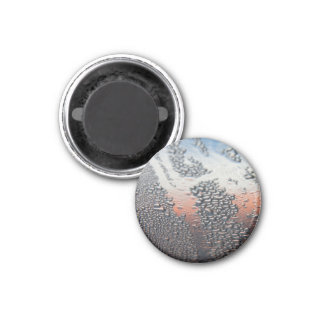 Condensed water drops 1 inch round magnet