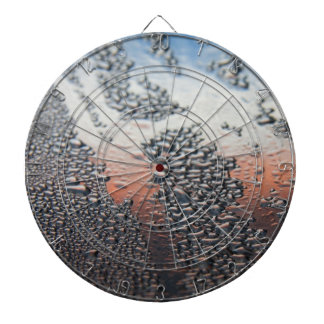 Condensed water drops dartboard with darts