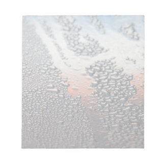 Condensed water drops notepad